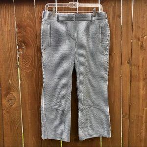J.Crew Teddie Capri Pinstriped Pants Size 4